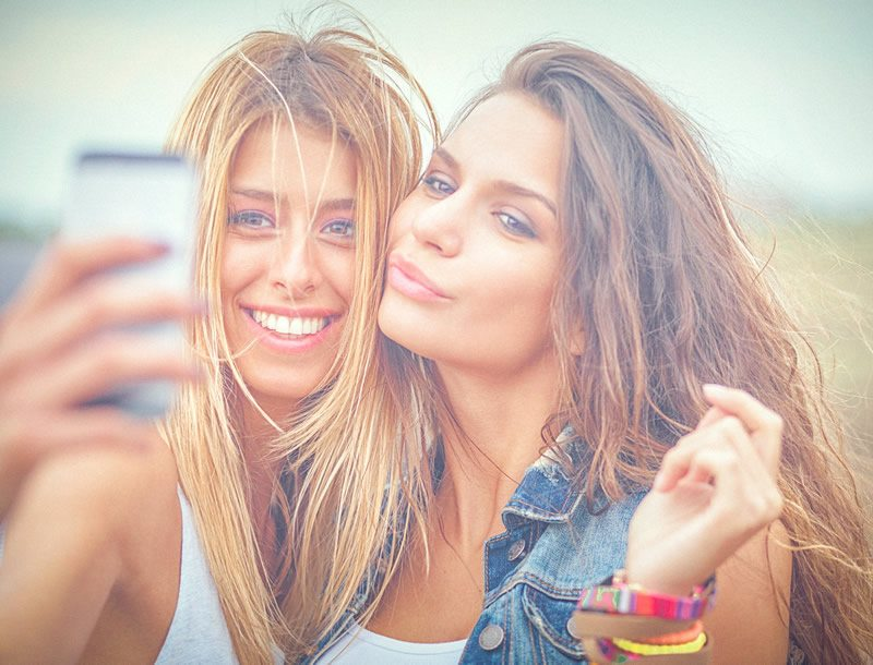 Two Woman Taking a Selfie
