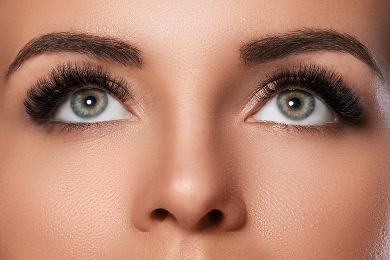 Woman's Eyes with Lash Extensions