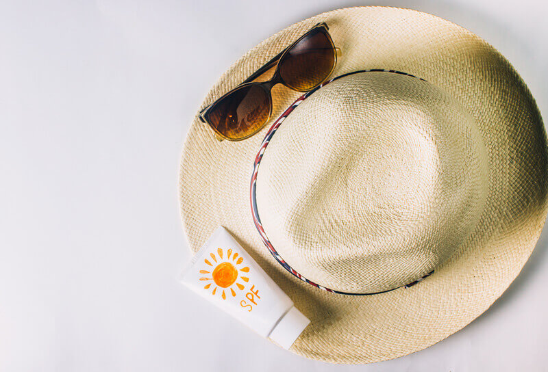 Skin Protection - Hat, Sunscreen and Sunglasses