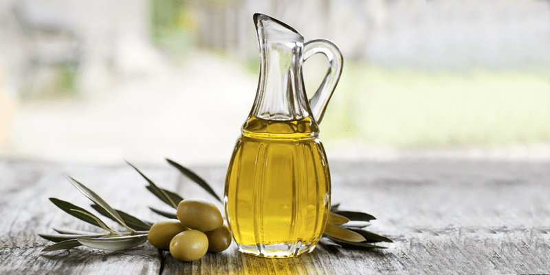 foods-with-coq10, jar of olive oil