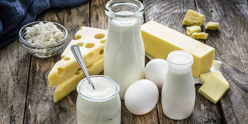 foods-with-vitamin-d, dairy products milk, cheese, eggs, and butter